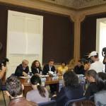 Un momento della conferenza stampa del Calabria Day 2012